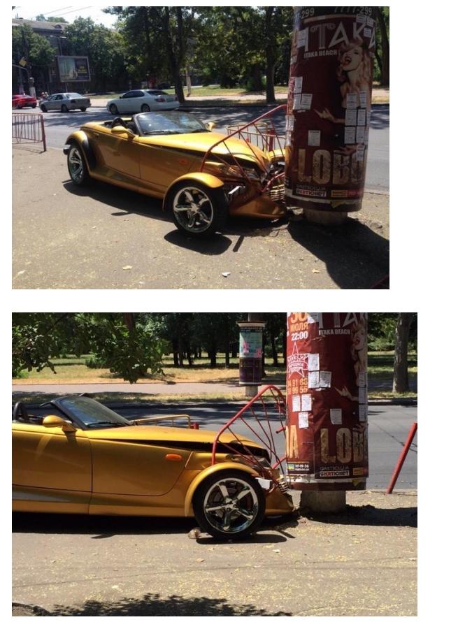 В Одессе разбили очень редкий Chrysler Prowler (ФОТО), фото-1