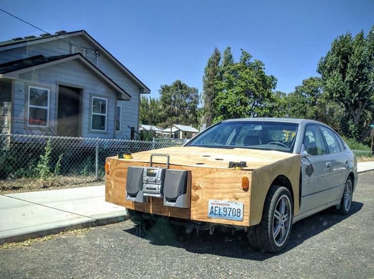 автомобиль из фанеры