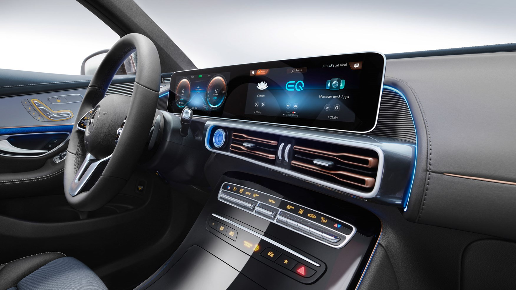 Mercedes-Benz EQC dashboard